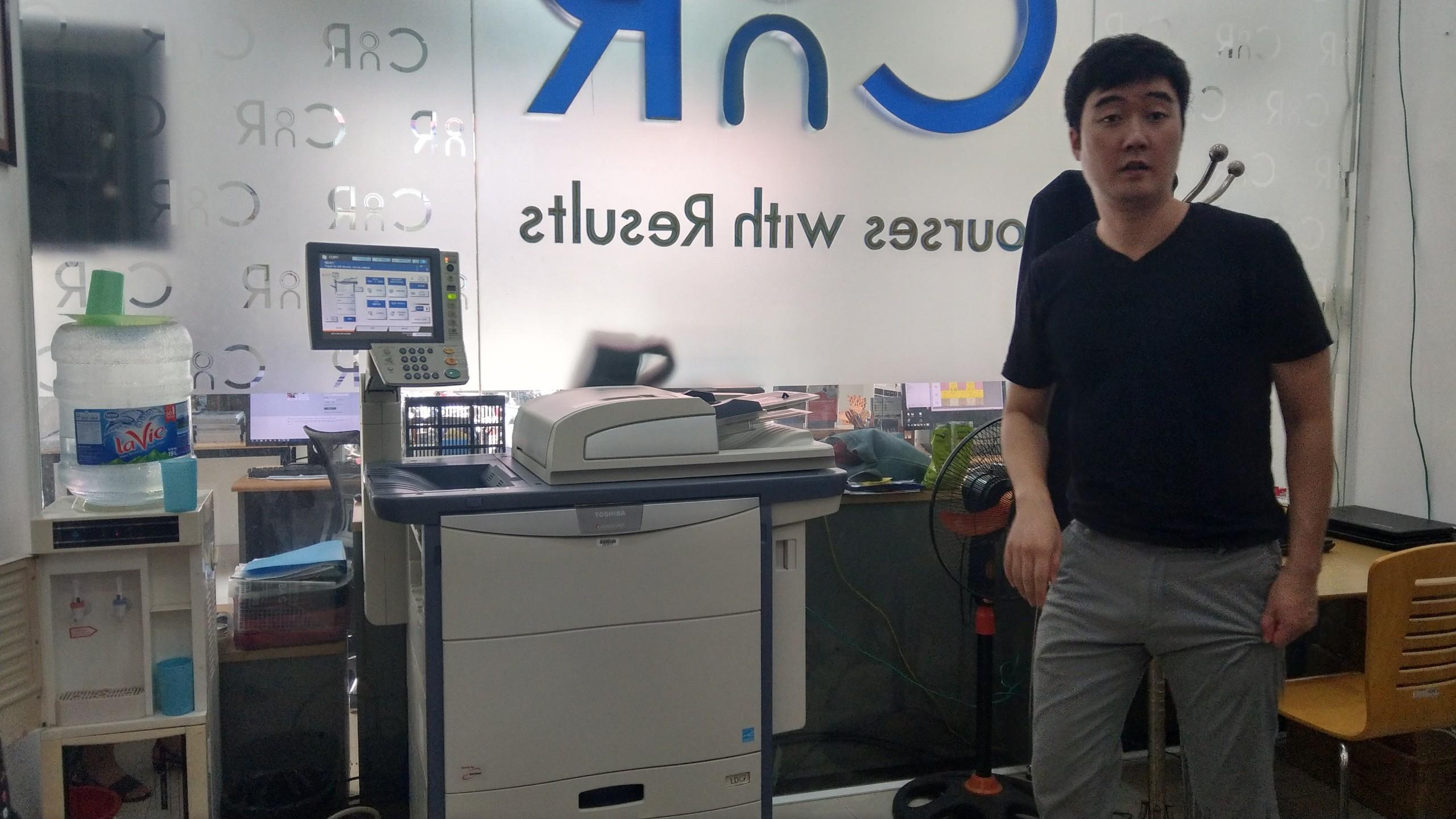 Trung tâm đào tạo ngoại ngữ Hàn Quốc thuê máy photocopy rất ưng ý